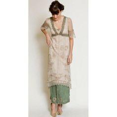 40007 New Vintage Titanic Dress in Sage