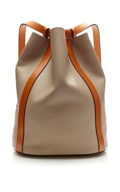 LOEWE Midnight Belt Backpack Bag. #loewe #bags #leather #backpacks #