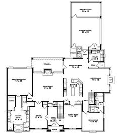 #653912   Two Story 6 Bedroom, 4.5 Bath French Style House Plan : House