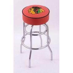 CHICAGO BLACKHAWKS HOLLAND BAR STOOL-RED