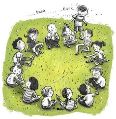 .....Duck, Duck....GOOSE!  I would play this with my neighbor Courtney but all the others were imaginary