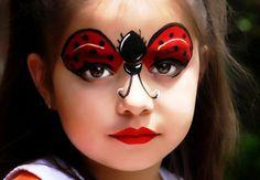 Super ideias de maquiagens de Carnaval para crianças! Inspire-se nessas ideias que vão deixar seu pequeno lindo para o bailinho! Aqui uma maquiagem de Ladybug!