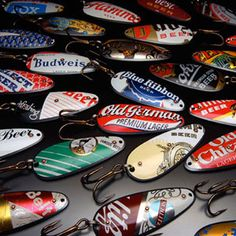 Beer Can Fishing Lures.  I'd love to collect these!