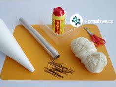 návod jak vyrobit stromeček z bavlnky