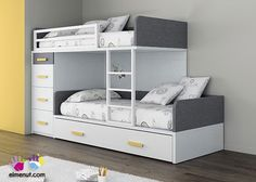 Dormitorio Infantil con Camas tipo Tren