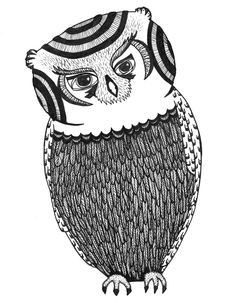 Free Adult Coloring Book Page.  Owl - by Blue Star Coloring.  #adultcoloringbook #adultcoloring #coloringbook