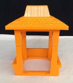 Vintage 1984 Fisher Price Little People ZOO #916 ORANGE CANOPY Replacement Part  #FisherPrice
