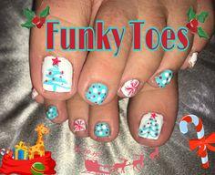 #funkytoes #christmasnailart
