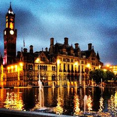 Night in Bradford which lies at the heart of the City of Bradford, a metropolitan borough of West Yorkshire, in Northern England.  Go to www.YourTravelVideos.com or just click on photo for home videos and much more on sites like this.