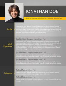 Find The Grey Web Designer Resume Template On WwwCvfolioCom