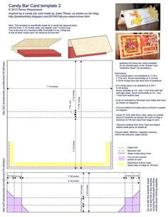 """Template for a """"Candy Bar Card"""" (fits a Hershey Bar). Plus... many more templates on the website for additional decorative, three-dimensional cards."""