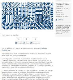 #gioponti #infinitoblu #decori #ceramicafrancescodemaio #creatività #design #architettura #giopontidesign #bluponti #libroinfinitoblu #mostrainfinitoblu #milano #triennale