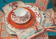Harrison Howard Curiosity of the Sea paper plates and napkins