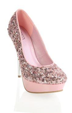light #pink platform #sequin #pump   $29.20