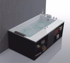 whirlpool badewanne jacuzzi pool spa massage jets für bis zu 2, Badezimmer