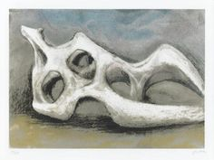 Henry Moore OM, CH 'Reclining Figure: Bone', published 1984 © The Henry Moore Foundation. All Rights Reserved Abstract Sculpture, Sculpture Art, Metal Sculptures, Bronze Sculpture, Henry Moore Reclining Figure, Henry Moore Drawings, Henry Moore Sculptures, Artist Sketchbook, Action Painting