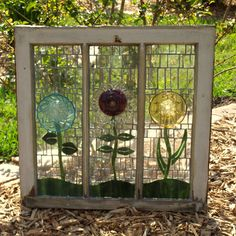 Repurpose Stained Glass Mosaic Window Glass Plate by ARTfulSalvage, $300.00 Oh , for my hot house !!!