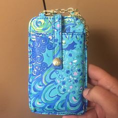 Lilly Pulitzer phone wallet with chain Brand new! Lilly Pulitzer Bags Clutches & Wristlets