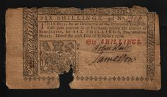 NJ-170 - Obv - February 20, 1776 - 6 Shillings - SN 1928. Signed by John Hart who was a signer of the Declaration of Independence. This note is Known as a raid note because it was a part of a lot that was seized by the British around the time of the Battle of Princeton. Most raid notes only have two signatures, some exhibit three signatures with one that is a forgery. John Hart, Days In February, Declaration Of Independence, New Jersey, Exhibit, Battle, British, United States, Notes