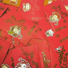 I made all the them in one day, see how hard I worked! Red packets with lucky money inside for the Chinese New Year~ #yearofmonkey2016 #redpacket #利是封 handmade by Jodie Hui~Feb 2016~