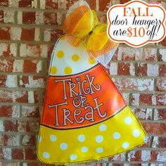 Trick or Treat Polka Dot and Chevron Candy por PinkBrushstrokes