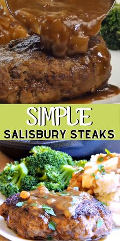This Simple Salisbury Steak recipe turns that classic TV dinner into something you can be proud to serve your family. Keto adaptations available in the recipe. recipe videos Simple Salisbury Steaks with Caramelized Onion Gravy Chopped Steak Recipes, Beef Cube Steak Recipes, Beef Cubed Steak, Good Steak Recipes, Best Beef Recipes, Beef Recipes For Dinner, Cooking Recipes, Minute Steak Recipes, Oven Steak