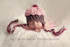 Custom cupcake hat by Hooked Crochet    Beautiful photography by In the Moment Photography by Jill Shadden