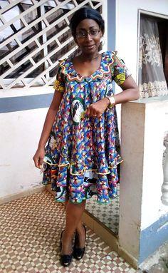 Mode Africaine Robe, Robe En Pagne Africain, Robe De Sortie, Nouvelle Robe,