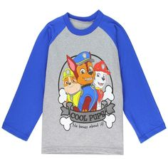 Sizes Made From Cotton Polyester Label Nick Jr Paw Patrol Officially Licensed Nick Jr Paw Patrol Toddler Clothes Grey Long Sleeve Shirt, Long Hoodie, Long Sleeve Tees, Toddler Outfits, Boy Outfits, Nick Jr Paw Patrol, College Hoodies, Boys Pajamas, Boys Shirts