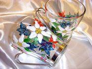 Hand Painted Alpine Flower Mugs
