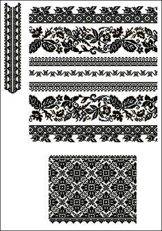 "Схема для машинної вишивки ""Сокальська"" Cross Stitch Samplers, Cross Stitch Charts, Cross Stitching, Cross Stitch Patterns, Embroidery Patterns, Hand Embroidery, Crochet Patterns, Filet Crochet, Knit Crochet"