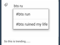#bts #run