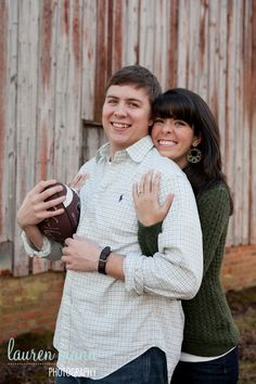 football engagement.  Brett's mom's favorite