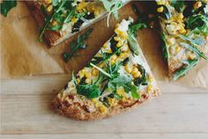 Corn and Goat Cheese Pizza