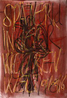 YOSEF JOSEPH DADOUNE    Später in der weitren welt 09/02/16   Pastels on Nostalgique Hahnemühle paper  59,4 x 84,1cm (A1) - 190g/m²  Photographer: Yigal Pardo