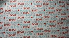 CAR PLANE BOAT Words Fabric by the Yard by LaCreekBlue on Etsy