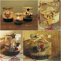 Rustikálne svietniky./Rustic candle holders. Handmade by MG.