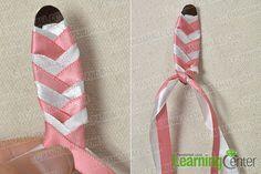 make the main part of the pink ribbon hair clip