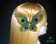 Peacock feather wedding  butterfly bridesmaids hair by Rationale, $34.00