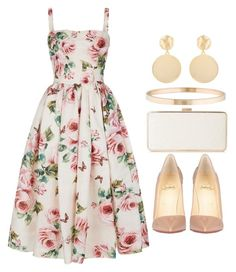 """#14794"" by vany-alvarado ❤ liked on Polyvore featuring Dolce&Gabbana, Christian Louboutin, Tiffany & Co. and Mounser"