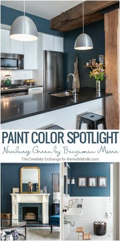 This beautiful, deep, and rich color is a near-perfect teal paint color, a beautiful choice for an accent wall or furniture. More color tips and inspiration from The Creativity Exchange on Remodelaholic.com