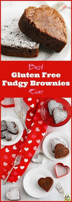 Looking for a gluten free fudgy brownie recipe? Try the Best Gluten Free Fudgy Brownies Ever! Click to get this easy gluten free brownie recipe. These homemade brownie recipe is perfect for Valentine's Day! #ad