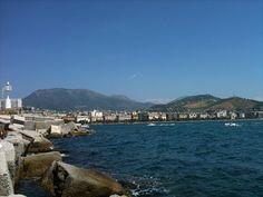 Salerno. Vista dagli scogli del Porto commerciale