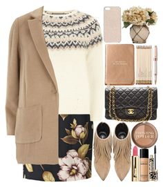 """""""Classy, chic, modern"""" by martinabb ❤ liked on Polyvore featuring By Malene Birger, Dorothy Perkins, Elyse Walker Los Angeles, Kate Spade, Bare Escentuals, Chanel, H&M, Forever New, Montegrappa and modern"""