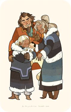 Hey little one! see your uncle Bumi and aunt Kya. When I saw grandma Katara hug little Rohan I feel so touched!