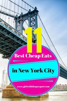 A local's guide to the eleven best cheap eats in New York City. I swear, this post will make your stomach and wallet happy.