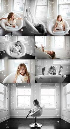 Photographing a child in a chair