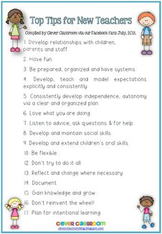 Top Tips for New Teachers from our Facebook fans- blog post and FREE download.