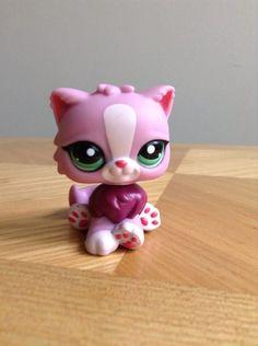 Littlest Pet Shop LPS Pink Purple Persian Kitty Cat w/Green Eyes #2138 #Hasbro