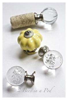 Make Beautiful Bottle Stoppers From Wine Corks and Drawer Pulls